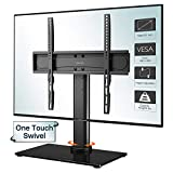 BONTEC Universal Swivel Table Top TV Stand for 26-55 LED OLED LCD Plasma