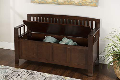 "Product Image 14: Linon Home Dcor Linon Home Decor Cynthia Storage Bench, 50""w x 17.25″d x 32″h, Walnut"