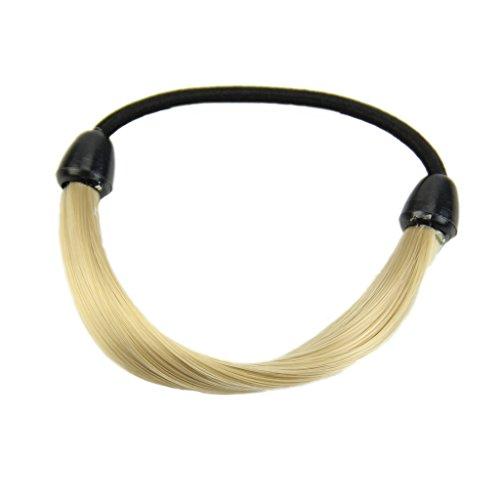 VIccoo Haarband, Moda peluca coreana Pelo titulares de cola de Caballo trenzas Cabello Giro Banda de goma diadema - Gold