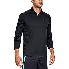 Under Armour Men's Tech 2.0 1/2 Zip-Up T-Shirt , Black (001)/Charcoal , Large