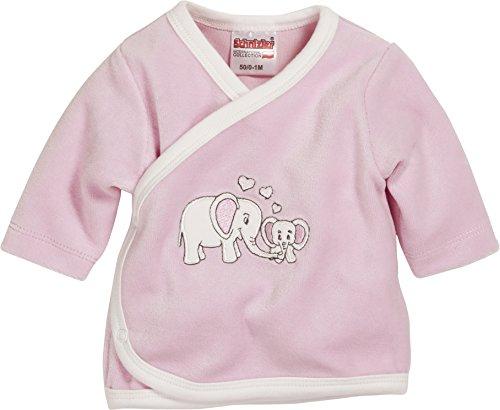 Schnizler - Nicki Wrap-Around Shirt Long Sleeve Elephant - Chemise mixte bébé, Rose (Lightpink), Premature (Taille fabricant:44)