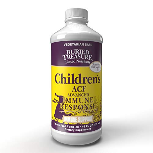 Childrens ACF Rapid Immune Recovery, Immune Booster & Support for Kids, Herbal Blend with Vitamin C Elderberry Enchinacea, 16oz Buried Treasure Vitamin C Vitamins