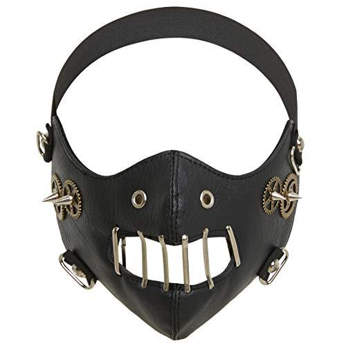 dream cosplay Steampunk Kostuum Masker Lederen Half Gezicht Mond Moffel met Versnellingen