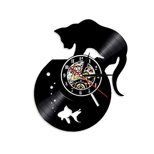 XMRISE Reloj De Pared De Disco De Vinilo Pared Reloj Vintage Regalo...