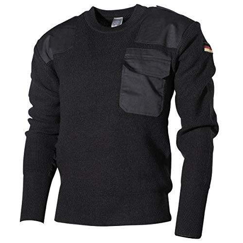 MFH Schwerer Bundeswehr Pullover mit Brusttasche (Schwarz/48)