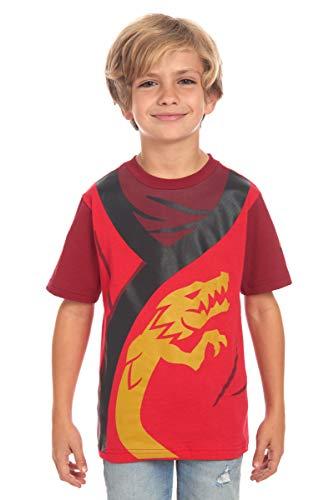 LEGO Boy's Ninjago The Legendary Ninja and Master of Fire Costume Tee, Red, 7