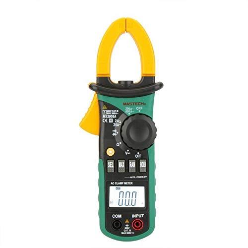 MASTECH MS2008A Auto Range Digital AC Clamp Meter Ammeter Voltmeter Ohmmeter