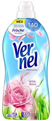 Vernel Wild-Rose, Weichspüler, 72 (1x72) Waschladungen, für einen langanhaltenden Duft und traumhaft weiche Wäsche