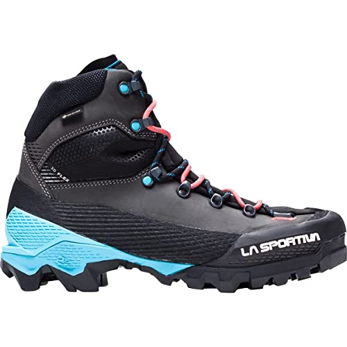 La Sportiva Aequilibrium LT GTX Mountaineering Boot - Women's Black/Hibiscus, 42.0