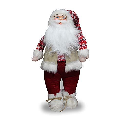 IlGruppone Babbo Natale Natalizio, Elemento di arredo e fermaporta Decorativo Gigante - Disegno 2-150 cm