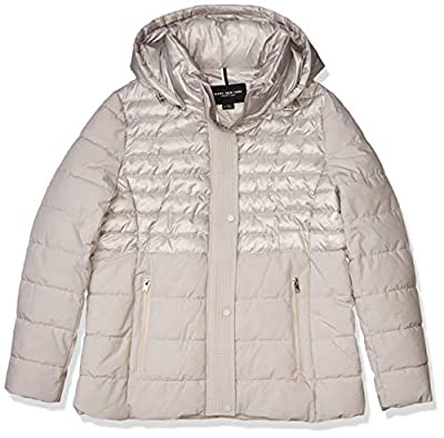 Marc New York by Andrew Marc Women's Macoya Mixed Media Jacket with Removable Hood, Light Grey, Small