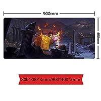 超大型聖闘士星矢マウスパッド高級感マウスパッドおしゃれ滑り止め防水軽減疲労水洗耐久性ゲーミングオフィス最適ゲーミングマウスパッド800*300*3mm/900*400*3mm-イメージC_800*300*3mm