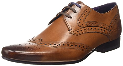 Ted Baker Hann 2, Scarpe Stringate Basse Brogue Uomo, Marrone (Tan), 46 EU