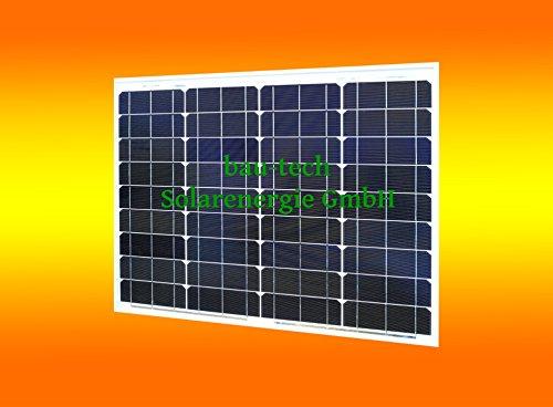 bau-tech Solarenergie 1 Stück 50 Watt Solarmodul Solarpanel Photovoltaik Solarzelle monokristallin GmbH