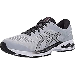 ASICS Men's Gel-Kayano 26 Running Shoes, 8, Piedmont Grey/Pure Silver