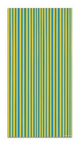 Panorama Agatha Ruiz de la Prada Alfombra Vinílica Estampados Básicos Líneas Amarillas y Azules Oscuro 120x170cm - Alfombra Cocina Vinilo - Alfombra Salón Antideslizante e Ignífuga - Alfombras PVC
