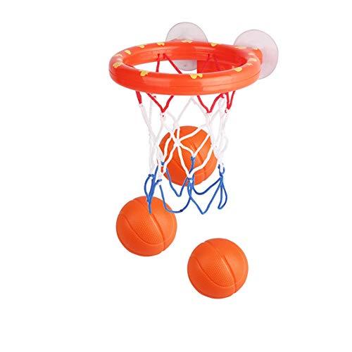 iSpchen Spiel Gadget Badespielzeug Basketball Hoop Balls, Badezimmer Slam Dunk Badewanne Shooting für Kid Boy Girl Kleinkind Geschenk, 3 Bälle enthalten