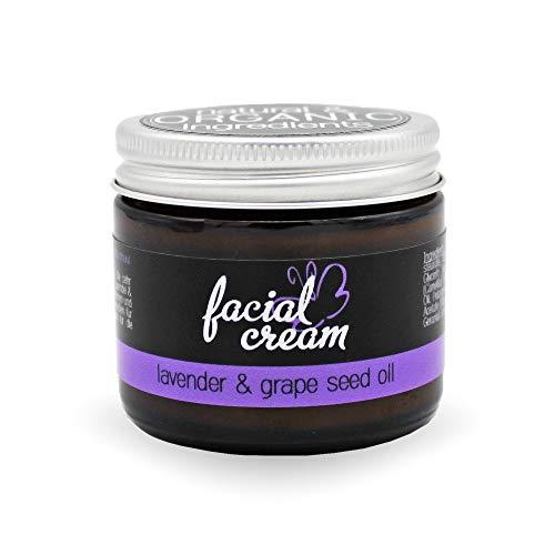 Gesichtscreme Lavender & Grape Seed Oil, 60 ml / 2.03 fl.oz. - trockene oder fettige Haut, ebenso Mischhaut