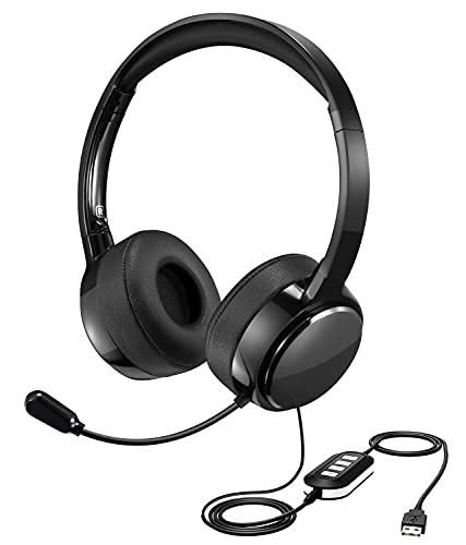 Auriculares con Micrófono, USB / 3,5 mm,Auriculares para PC con...