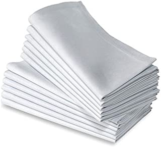 JUWENIN, Cotton Dinner Napkins 24 Pack (20 inches x20inches) Soft & Comfortable - Durable Hotel Quality - Ideal for Events & Regular Home Use (White)