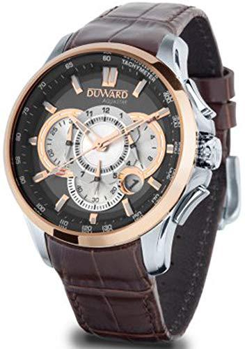 Duward aquastar Silverstone Mens Analog Japanese Automatic Watch with Leather Bracelet D85531.06