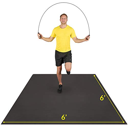AG ACTIVEGEAR Exercise Mat 6'x6'x7mm | Large Workout Mat for Home | Durable Home Gym...