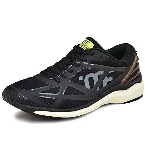 [アキレス] ランニングシューズ メンズ レディース ソルボ メディフォーム LSD2 MF-203 ワイド/マラソン ジョギング 陸上 SORBO MEDIFOAM 男女兼用 靴 スポーツシューズ/MFR2030 (27.5cm, ブラック)