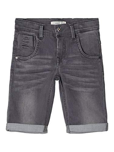 Name IT NOS Jungen NKMTHEO DNMCLAS 5155 Long NOOS Shorts, Grau (Medium Grey Denim), (Herstellergröße: 164)