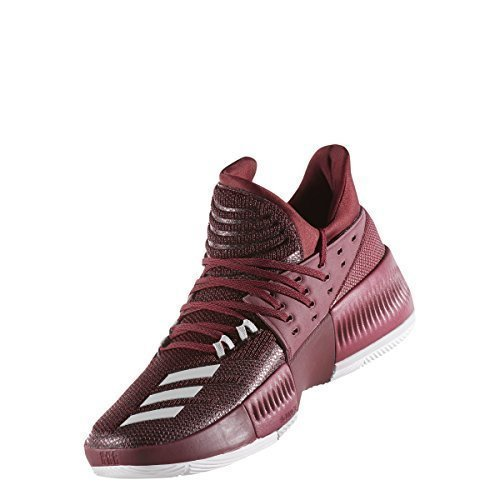 adidas Dame 3 Shoe Men's Basketball 11 Maroon-White