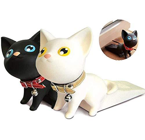 2 tapones para gatos, cuña de goma para sujetar la tapa de la puerta y proteger la pared del aula de la oficina en casa.
