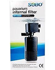 B&K SOBO Submersible Silent Aquarium Internal Filter 15W, Fish Tank Filter with 650 l/hr. Water Pump – 1 Year Warranty