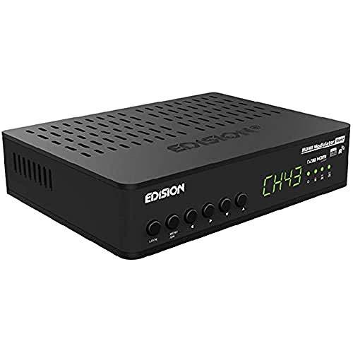 EDISION HDMI Modulador Xtend, HDMI a DVB-T, Salida de Bucle HDMI, Entrada RF-In, Control IR sobre Coax, Plug & Play, Full HD, HDTV, DVB-T MPEG4, función USB PRE-CONFIG