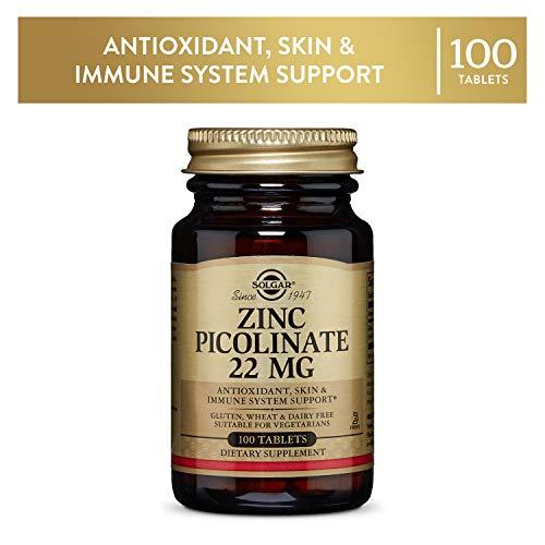 Solgar Picolinato de Zinc Comprimidos de 22 mg - Envase de 100