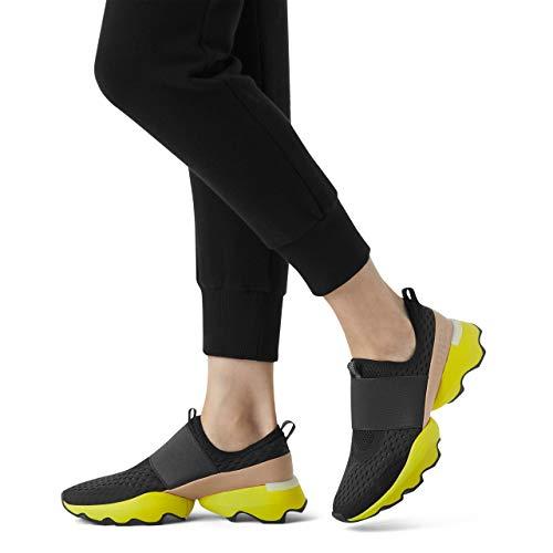 Sorel Women's Kinetic Impact Strap Sneaker - Black, Yellow - Size 6.5