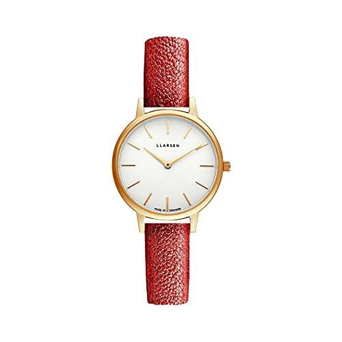 LLARSEN Reloj Analógico para Mujer de Cuarzo con Correa en Cuero 146GWG3-GOPERA12