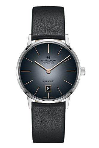 Hamilton H38455781 Intra-Matic Reloj Automático Hombre Cuero Negro