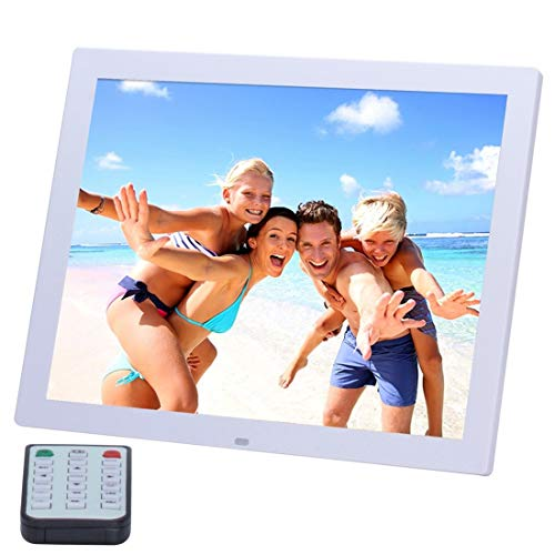 KAIFAN Cornice per Foto digitali Cornici alle Foto, 14 Pollici HD LED Display Video Telecomando, for la casa (Color : White)