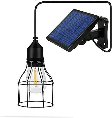 Lixada Outdoor Solar Licht, Solar hanglamp E27 buitenlamp Sensitive Light met lampenkap Solar LED-lamp hanglamp met snoer voor Garden Yard Home (lantaarn)