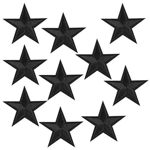 WUKONG99 Juego de 10 parches con forma de estrella, bordados, para ropa,...