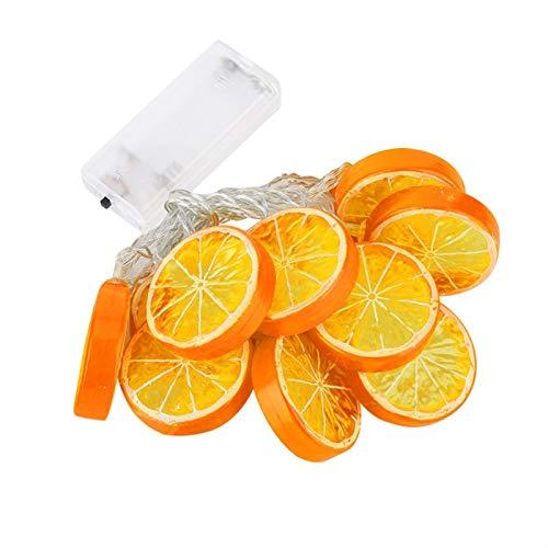 JULYKAI Luz de Cadena de jardín, luz de Cadena de Alto Brillo Que Ahorra energía, lámpara de Navidad de luz de Cadena de 10 LED de 1,5 m para Bodas en casa(Sweet Orange)