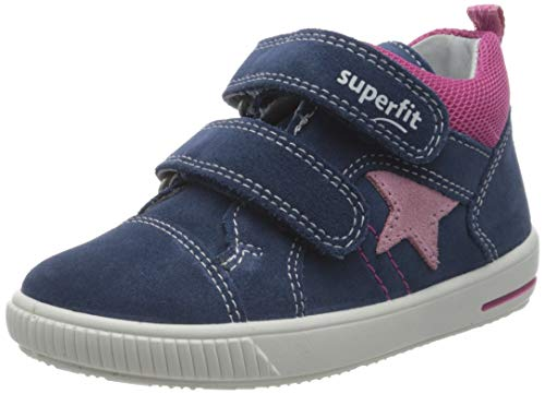 Superfit Baby Mädchen Moppy Lauflernschuhe Sneaker, Blau (Blau/Rosa 81), 26 EU