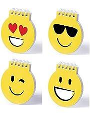 DISOK Lote de 20 Libretas Emoticonos Emojis - Libreta de Divertidos diseños Emoji en Llamativo Color Amarillo para los colegios. Material Divertido para Clase. Bloc Notas Emoji