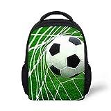 SMLSMGS Rucksack Fußball-Schultasche, Kinder Anime-Karikatur zufälliger Rucksack Unisex Polyester Rucksack beiläufige Art und Weise Primary School Rucksack G (Color : E)