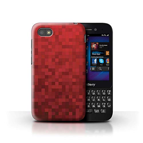 Stuff4® Hülle/Case für BlackBerry Q5 / Roter Tiger Muster/Pixelmuster Tarnung Kollektion
