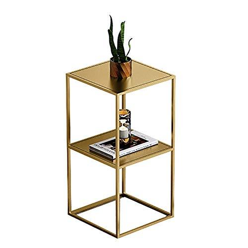 WDHWD Support de Fleur Multi-Couche étagère d'angle Support de Plante Polyvalent pour Salon Balcon Bureau, Utilisation intérieure/extérieure, Or (Taille: 30x30x60cm)