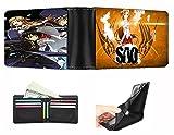 ZZYYII Anime Wallet, Sword Art Online: Kirigaya Kazuto/Yūki Asuna/Yuuki Asuna, Multi-Card Wallet, Impermeable PU Cartera, Unisex, Billetera de Gran Capacidad, Regalo
