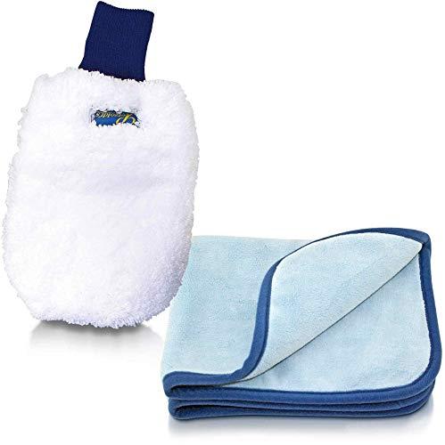 Petzoldts superweicher Microfaser-Waschhandschuh & Microfaser Trockentuch, für die perfekte Autowäsche