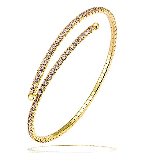 Goldmaid Damen-Armreif Flexible 925 Sterlingsilber 96 Zirkonia