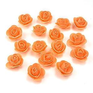 Azxu – Mini rosas artificiales de espuma de polietileno, hechas a mano, para decoración del hogar, manualidades, álbumes de recortes, bolas de beso de flores falsas, 50 unidades por lote de 3 cm