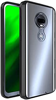 FINON Clear Perfect Body Model [ TPU Bumpers/PC ] for Motorola Moto G7 / G7 Plus Case with Hybrid Protective Clear and Impact Resistance - Black